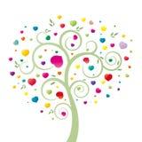 Cuore ed albero Fotografia Stock Libera da Diritti