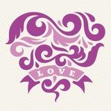 Cuore ed amore Immagini Stock Libere da Diritti