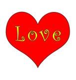 Cuore ed amore Groovy Immagini Stock Libere da Diritti