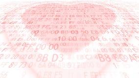 Cuore elettronico Amore e programmazione stock footage