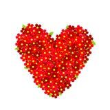 Cuore fatto dei fiori rossi illustrazione vettoriale
