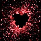Cuore fatto delle luci rosse Immagini Stock