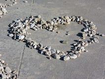 Cuore fatto delle rocce Fotografia Stock