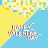 Cuore felice di giorno del ` s del biglietto di S. Valentino, accogliente il holid felice di giorno di S. Valentino illustrazione di stock
