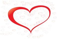 Cuore felice di rosso di giorno di biglietti di S Immagine Stock Libera da Diritti