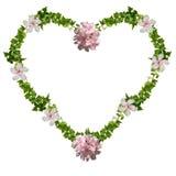 Cuore floreale Fotografia Stock Libera da Diritti