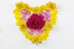 Cuore floreale Immagini Stock