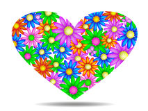 Cuore floreale Immagini Stock Libere da Diritti