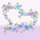 Cuore floreale illustrazione vettoriale