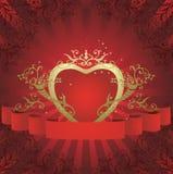 Cuore floreale astratto Royalty Illustrazione gratis