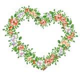 Cuore floreale verde Immagini Stock
