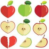 Cuore a forma di mela Immagini Stock Libere da Diritti