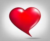 cuore Fumetto-a forma di Fotografie Stock
