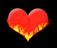 Cuore in fuoco Immagine Stock