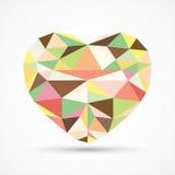 Cuore geometrico Fotografia Stock