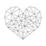 Cuore geometrico royalty illustrazione gratis
