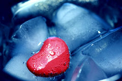 Cuore ghiacciato Fotografia Stock