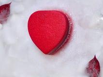 Cuore in ghiaccio Immagini Stock