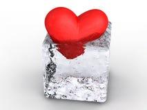 Cuore in ghiaccio Fotografia Stock Libera da Diritti