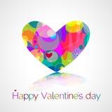 Cuore. Giorno di biglietti di S. Valentino felice Immagine Stock