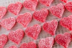 Cuore gommoso rosso Candy di giorno di biglietti di S. Valentino Fotografie Stock Libere da Diritti
