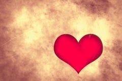 Cuore Grungy di amore di giorno di biglietti di S. Valentino Immagine Stock Libera da Diritti