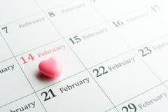 Cuore il 14 febbraio Fotografia Stock