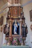 Cuore immacolato dell'altare di Maria in chiesa di San Martino in Martinska Ves, Croazia Immagine Stock Libera da Diritti