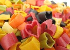 Cuore italiano della pasta a forma di Fotografie Stock Libere da Diritti