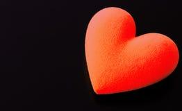 Cuore lanuginoso rosso Fotografia Stock