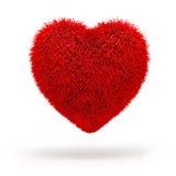 cuore lanuginoso rosso 3d royalty illustrazione gratis