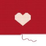 Cuore lavorato a maglia. Fotografia Stock