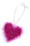 Cuore lilla per il giorno del biglietto di S. Valentino Fotografia Stock Libera da Diritti