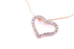 Cuore lucido del diamante Immagini Stock Libere da Diritti