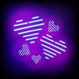 Cuore luminoso Segno al neon Aspetti per la vostra progettazione, la cartolina d'auguri, b Fotografia Stock
