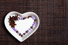 Cuore lustrato variopinto delle caramelle Immagine Stock