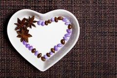 Cuore lustrato variopinto delle caramelle Immagini Stock
