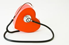 Cuore matto. Heart listening to itself by means of a stethoscope royalty free stock images