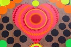 Cuore multicolore Fotografia Stock