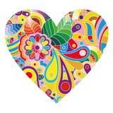Cuore multicolore su bianco royalty illustrazione gratis