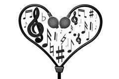 Cuore musicale Fotografie Stock
