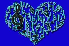 Cuore musicale Immagini Stock