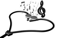 Cuore musicale Fotografia Stock
