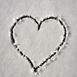 Cuore nel quadrato della neve Fotografie Stock