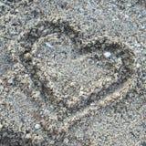 Cuore nella sabbia Fotografia Stock Libera da Diritti