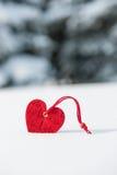 Cuore a neve fotografia stock