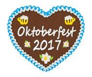 Cuore Oktoberfest del pan di zenzero Fotografia Stock Libera da Diritti
