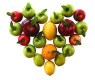 Cuore organico della frutta Fotografia Stock Libera da Diritti