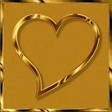 Cuore in oro fotografia stock