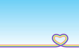 Cuore pastello dell'arcobaleno Fotografie Stock